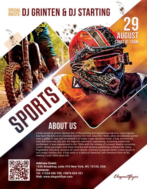 Freepsdflyer  Motor Sports Free Flyer Template  Download Flyer Designs