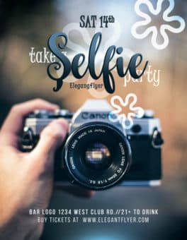 Selfie Party Free Flyer Template