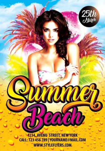 Summer Beach Free Party Flyer Template