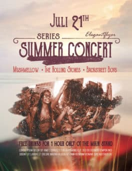 Summer Concert Free Flyer Template