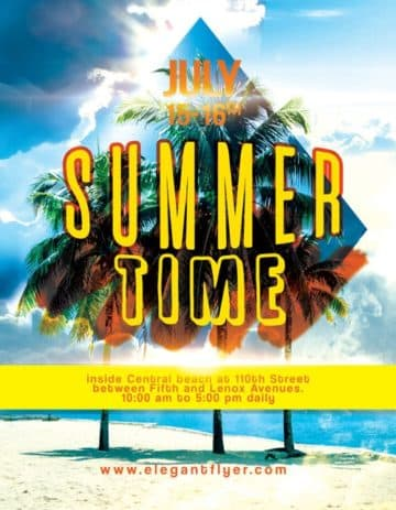 Summer Time Free Flyer Template