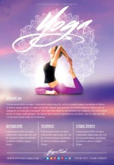 Yoga Gym Free Flyer Template