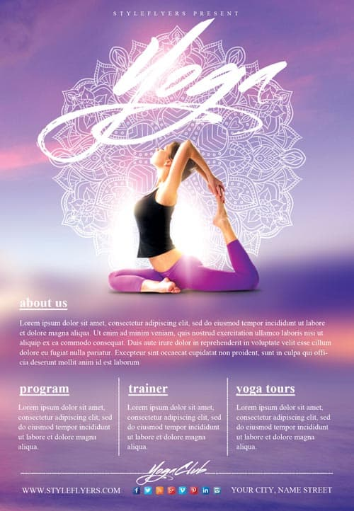 Yoga Gym Free Flyer Template Download Flyer Templates