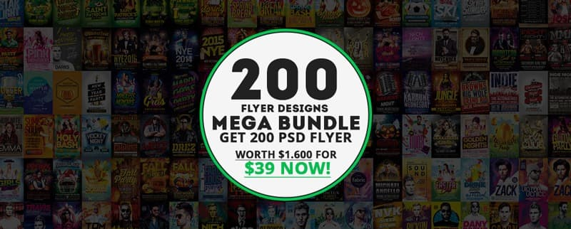 Get the Awesomeflyer 200 Flyer Template Bundle