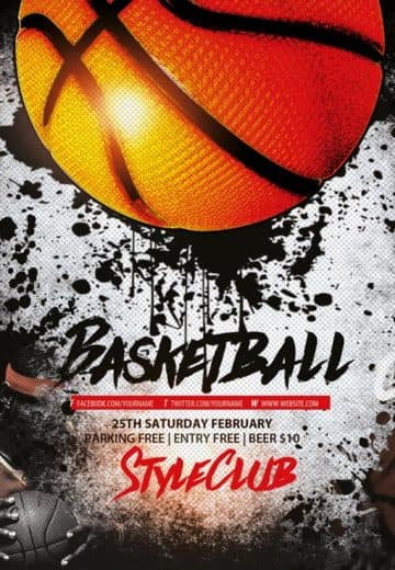 Basketball Free Sport Flyer Template