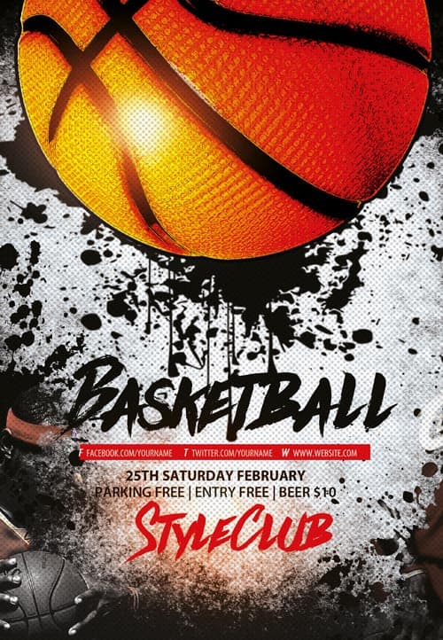 freepsdflyer basketball free sport flyer template download flyer templates. Black Bedroom Furniture Sets. Home Design Ideas