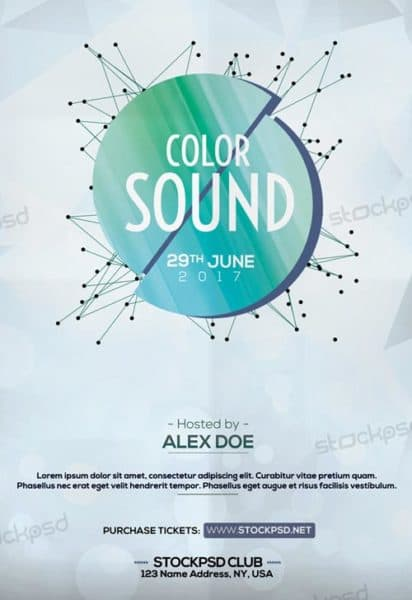 Color Sound Free Flyer Template
