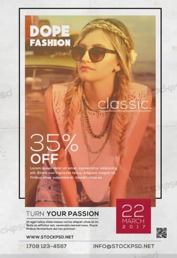 Vintage Fashion Sale Free Flyer Template