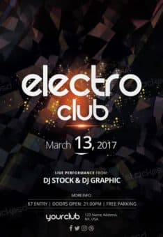 Electro Club Free Flyer Template