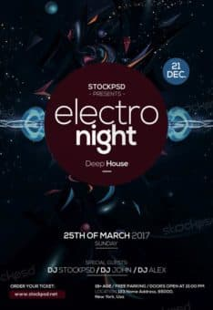 Electro Night Club Free Flyer Template