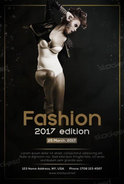 Fashion week free flyer template download flyer templates for Fashion flyers templates for free