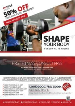 Fitness and Gym Offer Free Flyer Template