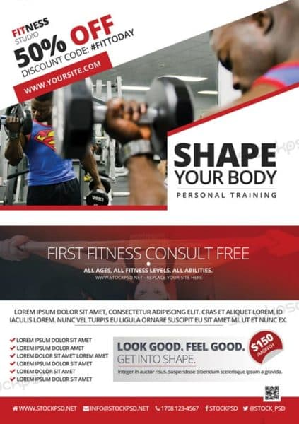 Fitness And Gym Offer Free Flyer Template  Download Flyer Templates
