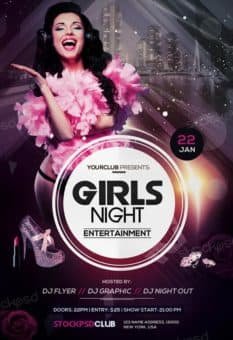 Girls Night Free Flyer Template