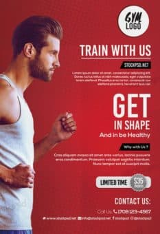 Running Fitness Gym Free Flyer Template