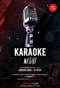Free Karaoke Night Flyer Template