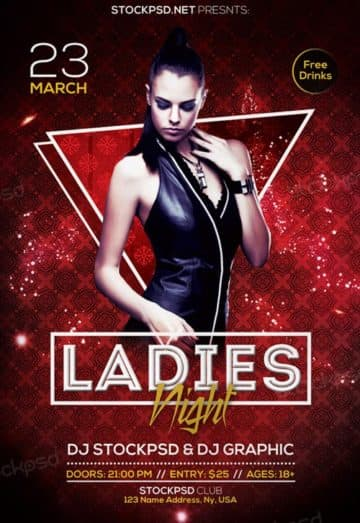 Free Ladies Night Out Flyer Template