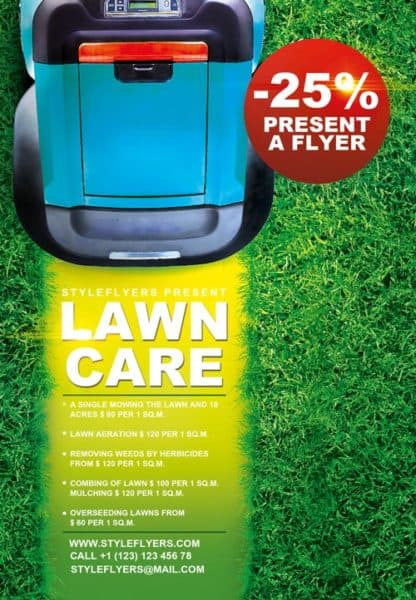 Lawn Care Business Free Flyer Template