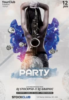 Elegant Party Free Club Flyer Template