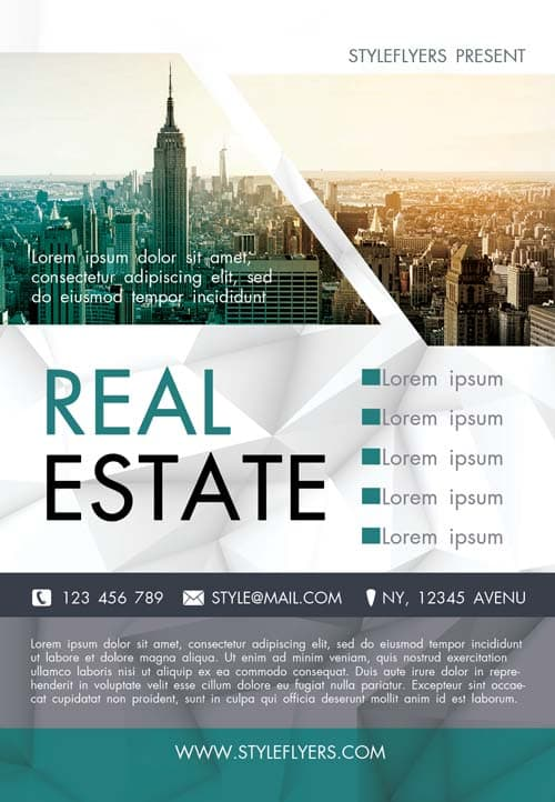 Free Real Estate Agency Flyer Template - Download Flyer ...