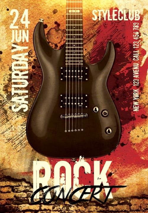 free rock concert flyer template
