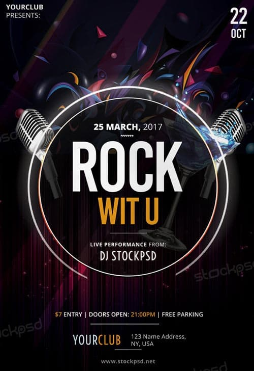 Freepsdflyer Rock With You Free Flyer Template Download Flyer