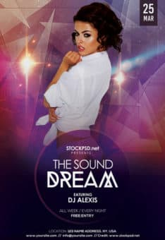 Dream Sound Party Free Flyer Template