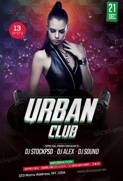 Free Urban Club Party Flyer Template