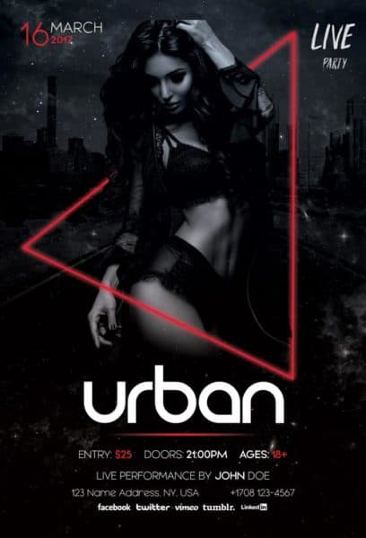 Urban Electro Free Party Flyer Template
