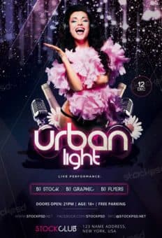 Urban Light Party Free Flyer Template