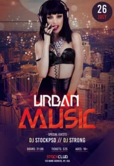 Urban Music Free Party Flyer Template