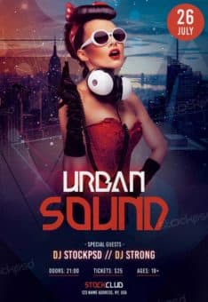 Free Urban Sound Party Flyer Template