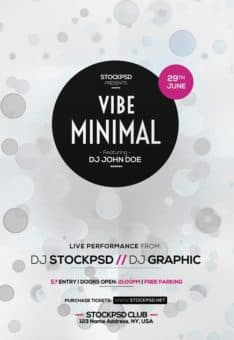 Minimal Vibe Free Flyer Template