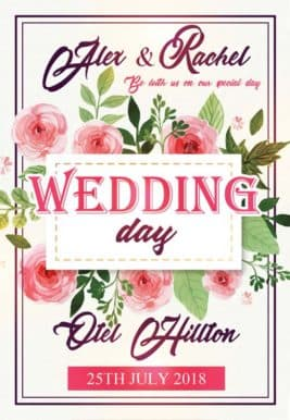 Wedding Day Free Flyer Template