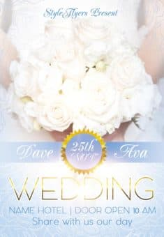 Wedding Party Free Flyer Template