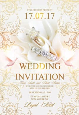 free wedding invitation flyer template - Free Wedding Templates