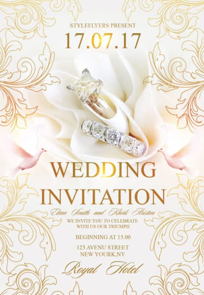 Free Wedding Invitation Flyer Template  Download Flyer Templates