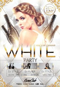 Elegant White Party Free Flyer Template