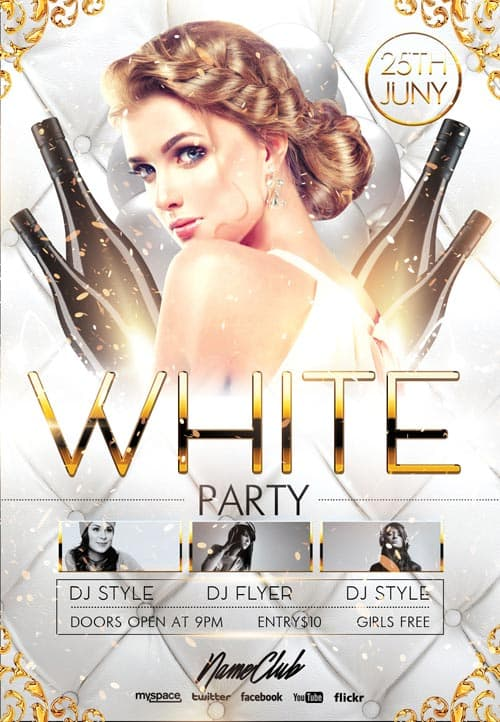 Freepsdflyer Elegant White Party Free Flyer Template Download