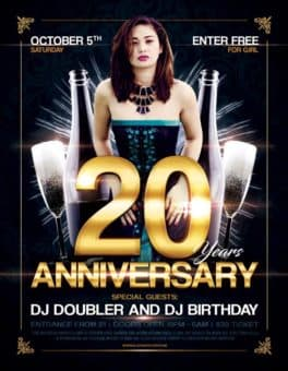 Free Anniversary Party Flyer Template