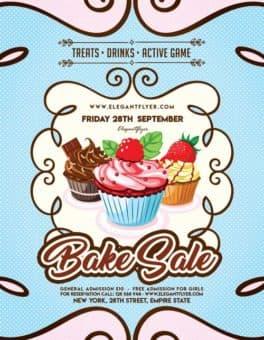 Cupcakes Free Bakery Flyer Template