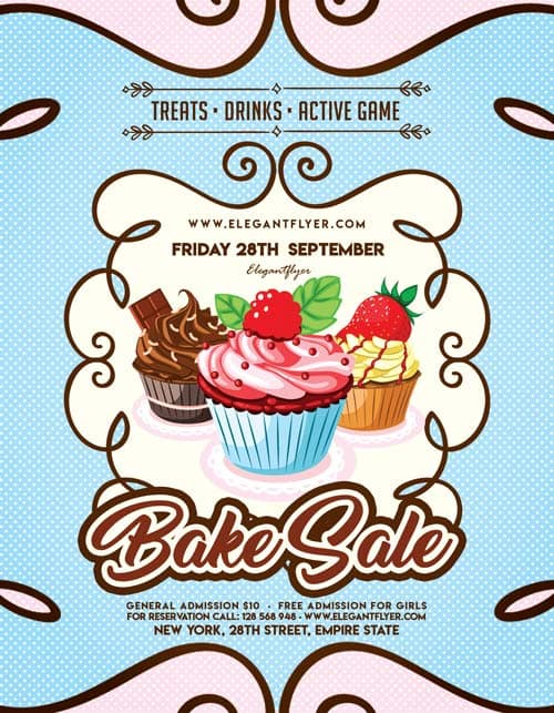 cupcakes free bakery flyer template download free party flyer