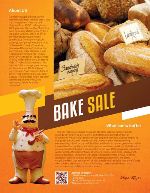 Bakery Sale Free Flyer Template