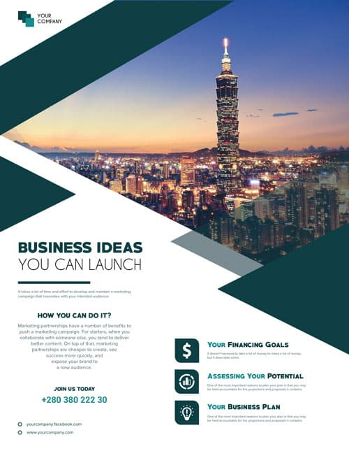 freepsdflyer free business ideas flyer template download free