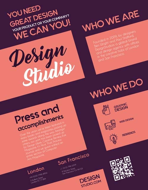 Free design studio flyer template download free psd flyer designs free design studio flyer template maxwellsz