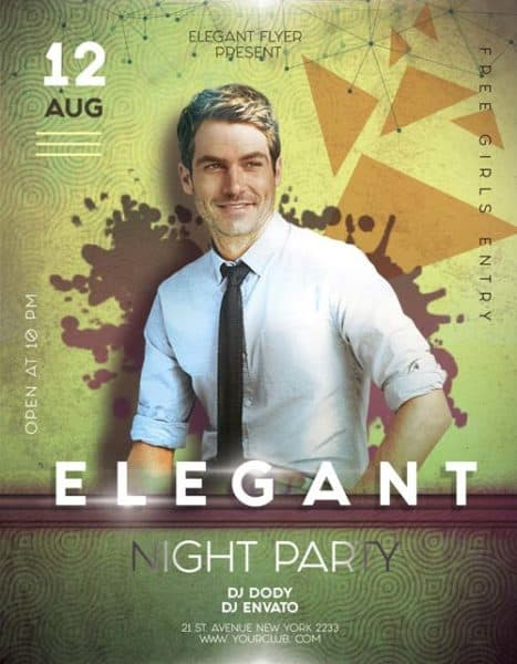 Elegant Party Night Free Flyer Template