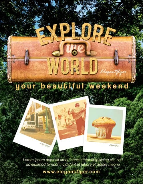 Explore The World Free Flyer Template