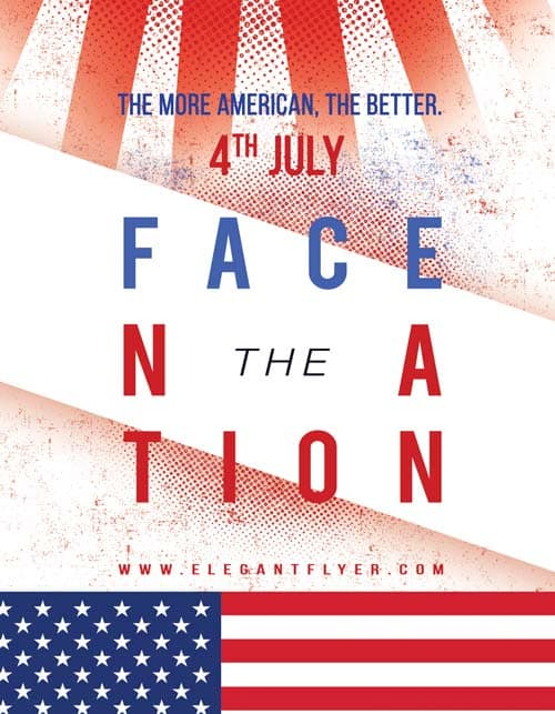 Face Nation Free Politics Flyer Template
