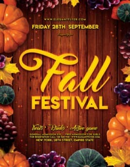 Fall Festival Free Flyer Template