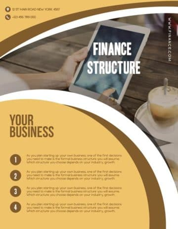 Finance Structure Free Flyer Template